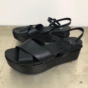 Eileen Fisher Juno Leather Platform Sandals